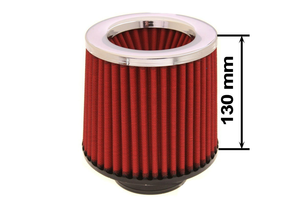 Filtr stożkowy SIMOTA JAU-X02103-05 60-77mm Red - GRUBYGARAGE - Sklep Tuningowy